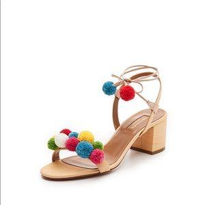 Aquazzura Pom Pom City Sandals